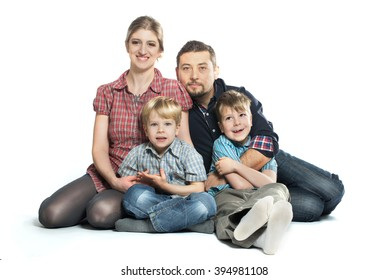 Happy Healthy Family Smiling Enjoying a Moment