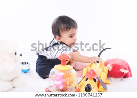 Happy Healthy Indian Baby Boy Stock Photo Edit Now 1190741257