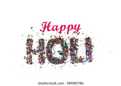 Happy Holi Indian color festival - Shutterstock ID 589085786