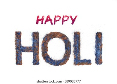 Happy Holi, Indian festival of color and calligraphy, typography text - Shutterstock ID 589085777