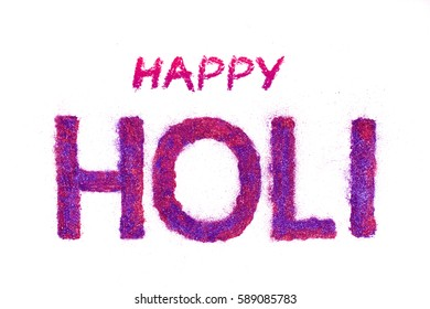 Happy Holi, Indian festival of color and calligraphy, typography text - Shutterstock ID 589085783