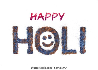 Happy Holi, Indian festival of color and calligraphy, typography text - Shutterstock ID 589969904