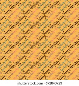Happy holiday arabic like text - greeting seamless pattern.