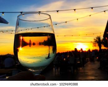 Happy hour sunset in Scottsdale Arizona. Taken at Isabella's Kitchen.
