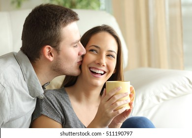 Kiss On Cheek Images, Stock Photos & Vectors | Shutterstock