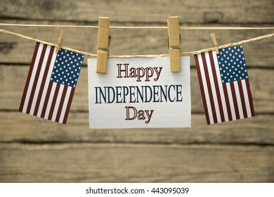 Happy Independence day greeting card or background.