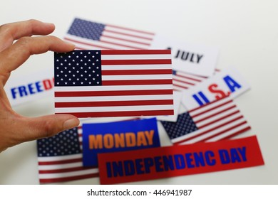 Happy Independence Day on hand
