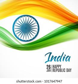 Happy India Republic Day26 January.  Illustration