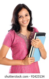 Happy Indian college student