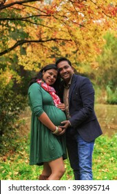 Happy Indian Coulple Expecting