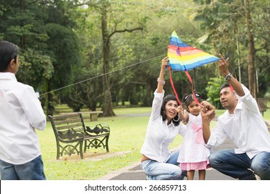 Indian Family Playing Games Stock Photos, Images