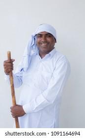 Happy indian  Farmer