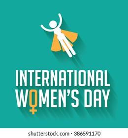 Happy International Women's Day celebration design.