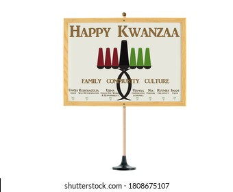 Happy Kwanzaa Whiteboard with all seven daily principles