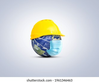 Happy Labor Day concept. 1st May- International labor day concept. Labor safety and right at Workplace. World Day for Safety and Health at Work concept. Safety first for worker.