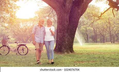 Happy life, family, age, old age, relationship and people concept - senior couple hugging in city park