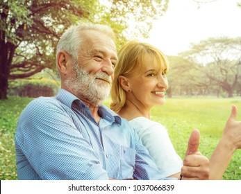 Happy life, Senior couple enjoying spending time together