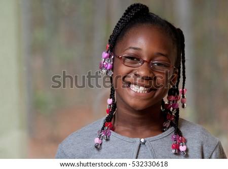 Tiny black girl facial