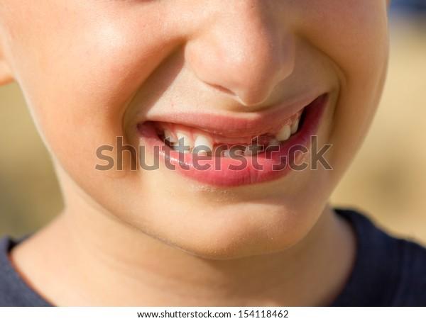 happy little boy who laughs