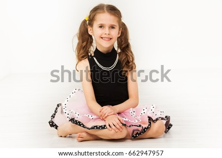 c0565756cae Happy Little Girl Beautiful Dress Necklace Stock Photo (Edit Now ...