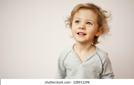 Happy little girl portrait