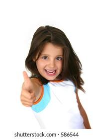 Happy little girl (thumbs up)