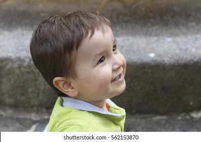 happy little kid smiling