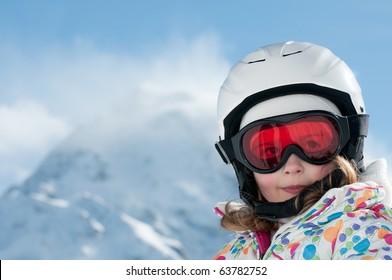 Happy little skier