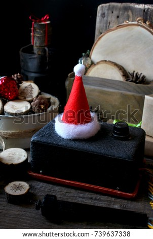 71adc1bf27858 Happy Magic Merry Christmas Santa Hat Stock Photo (Edit Now ...