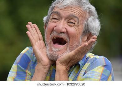 Happy Male Grandfather