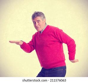 Happy man dancing