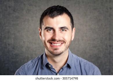 Happy man isolated