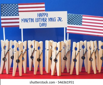 happy Martin Luther King Day background.