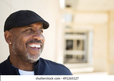 Happy mature African American man.