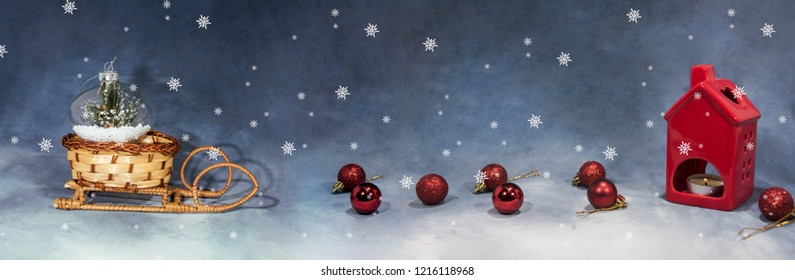 Happy Merry Christmas image. Abstract holidays image with some Christmas decor.