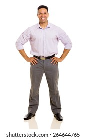 happy middle aged man isolated on white background