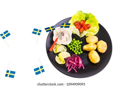 Happy midsummer with herring and potatoes