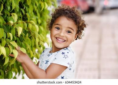 Happy Mixed Race little  Girl