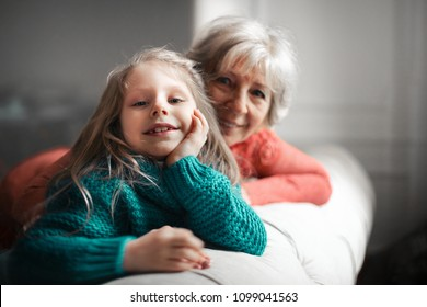 Happy moments with grandma