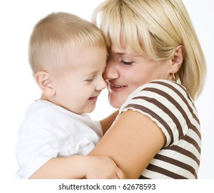 Happy Mother with Baby having fun