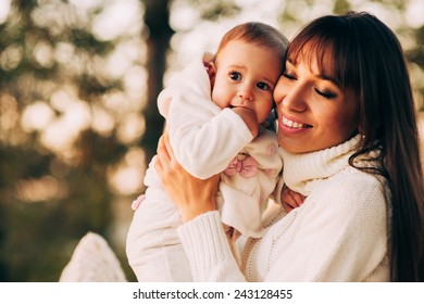 happy mother child