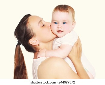 Happy mother and cute baby in happiness