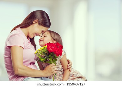 Happy Mother and daughter together