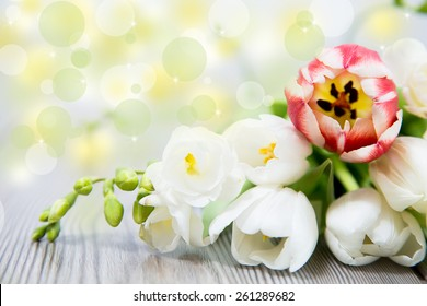 happy mother day, with beautiful flower