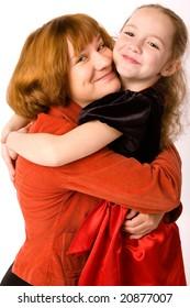 Happy Mother hugs her Daughter
