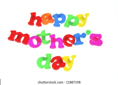 Happy Mother's Day on White Background