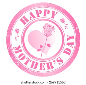 happy mothers day stamp, in english language