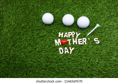 Happy mother's day word is on green grass