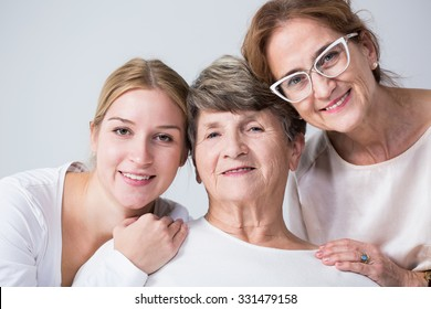 Happy multi generational family spending time together