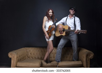 Happy Musician Couple